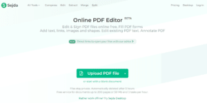 Sedja PDF Editor - Top 5 Free PDF Online and Offline Editing Software