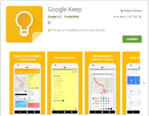 Google Keep - Best To Do List Apps For Android
