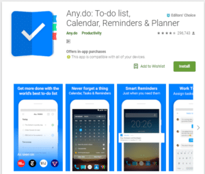 Any.do -  Best To Do List Apps For Android