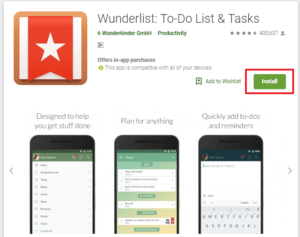 Wunderlist - Best To Do List Apps For Android
