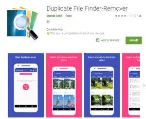 duplicate file finder delete android phone