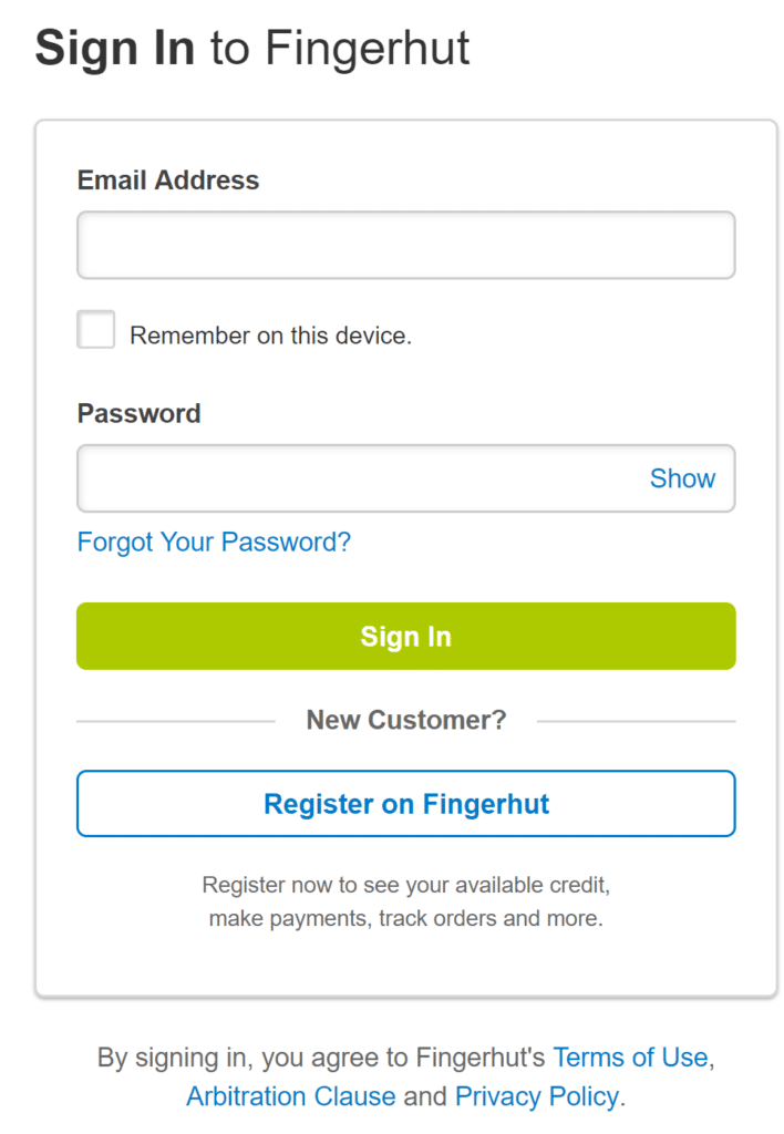 Fingerhut Member Login