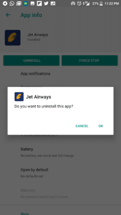 Right way to Uninstall Android Apps - Select OK for uninstall
