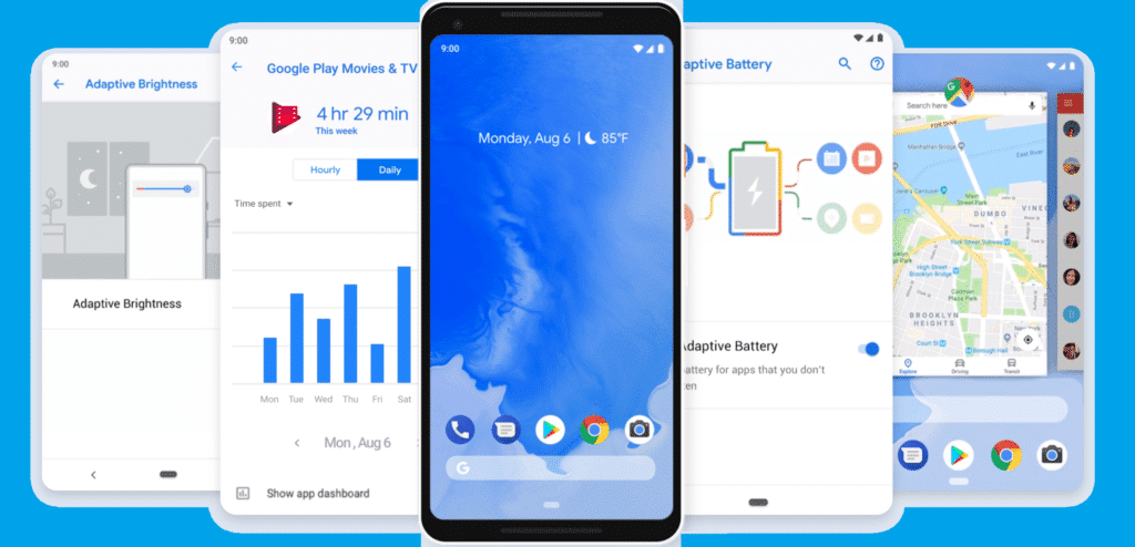 android 9 pie features phone list download