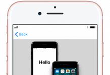 Apple Quick Start backup
