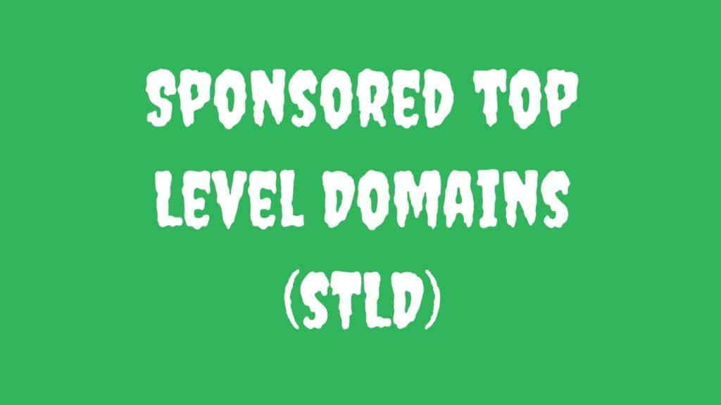 Sponsored Top Level Domains