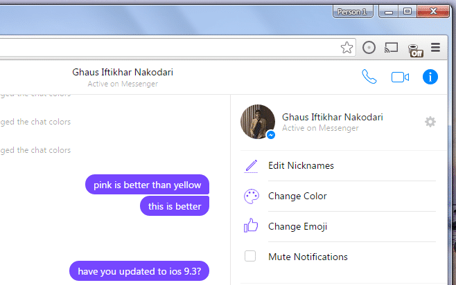 How To Change Chat Colors And The Emoji Shortcut On Facebook Messenger