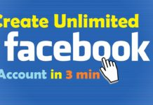 Trick To Make Unlimited Fake Facebook Accounts