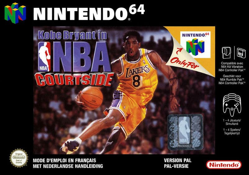 Kobe Bryant in nba Courtside Nintendo64