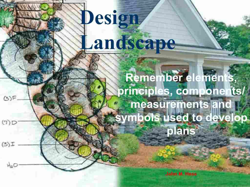 Landscaping Elements and Principles