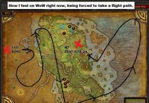 The flight path in World of Warcraft Classic