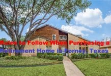 Rules to Follow When Purchasing a Retirement Home in Forney, Texas