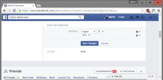 Facebook birthday change