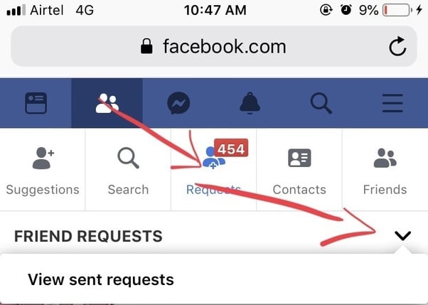 See Sent Friend Requests On Facebook